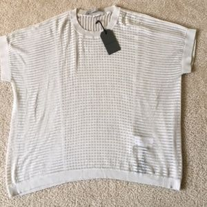 All Saints Porcelain Ladder Tee Size Small